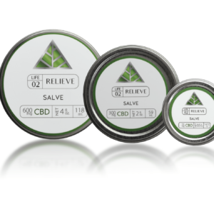 CBD Relieve Salve three different sizes