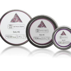 Sensation Full Spectrum Salve in three different sizes